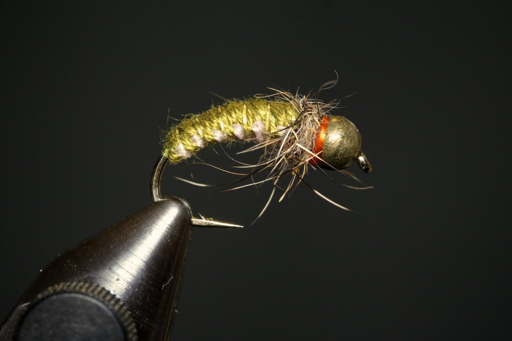 Olive Hot Spot Polish Woven Nymph