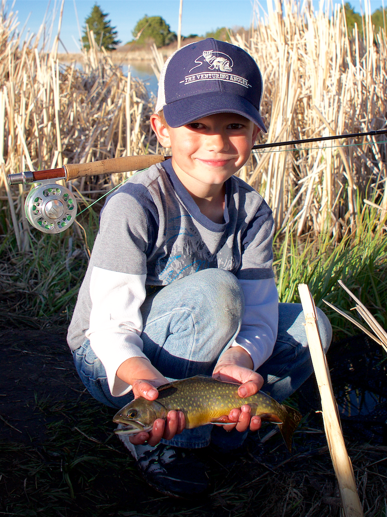 Andrew Chasing Brook Trout